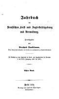 Jahrbuch der preussischen Forst  und Jagdgesetzgebung und  Verwaltung PDF
