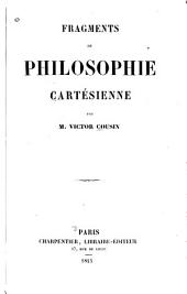 Fragments de philosophie cartésienne