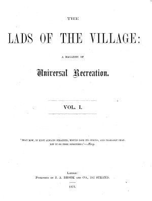 The Lads of the Village PDF