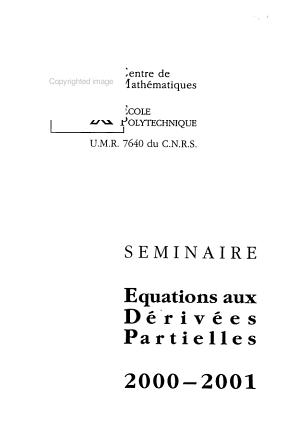 S  minaire   quations aux d  riv  es partielles PDF