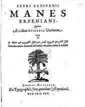 Manes Erpeniani: Quibus accedunt Epicedia variorum