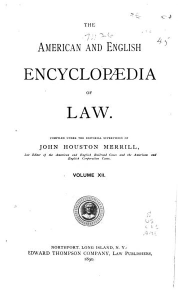 The American and English Encyclopedia of Law PDF