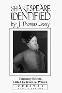 Download Shakespeare Identified Book