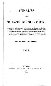 Annales des sciences d'observation ...