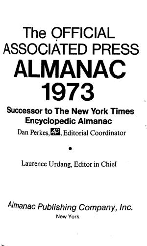 The New York Times Encyclopedic Almanac PDF