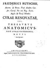 Frederici Ruyschii ... Curae renouatae seu Thesaurus anatomicus, post curas posteriores nouus ...