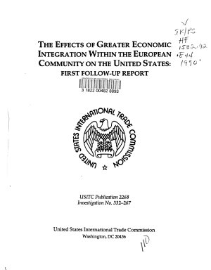 The Effects of Greater Economic Integration Within the European Community on the United States PDF