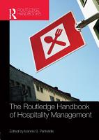 The Routledge Handbook of Hospitality Management PDF