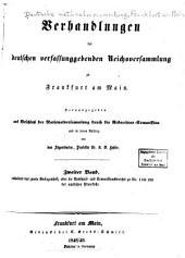 Verhandlungen der Deutschen verfassunggebenden reichsversammlung zu Franfkurt am Main: Ausgabe 2