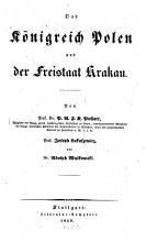 Das K  nigreich Polen und der Freistaat Krakau PDF
