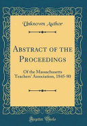 Abstract of the Proceedings PDF