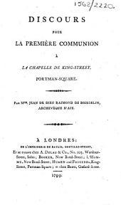 Discours pour la première communion à la chapelle de King Street, Portman Square