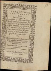De exceptionibus theses
