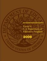 Guide to U S  Department of Education Programs  2009  PDF