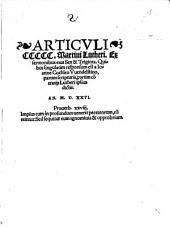 Articvli CCCCC Martini Lutheri, Ex sermonibus eius Sex & Triginta