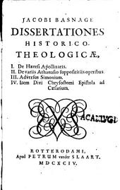 Dissertationes historico-theologicae