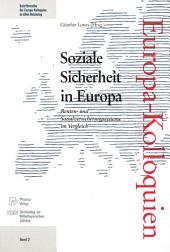 Soziale Sicherheit in Europa: Renten- und Sozialversicherungssysteme im Vergleich