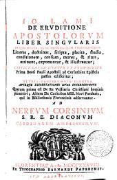 Io. Lamii de eruditione Apostolorum liber singularis