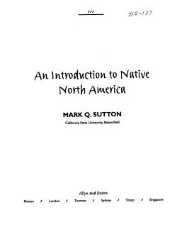 An Introduction to Native North America Book