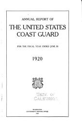 Annual Report of the United States Coast Guard