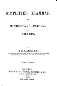 Simplified Grammar of Hind  st  n    Persian and Arabic PDF