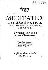 Meditationes grammaticae, ex Threnis Hieremiae desumptae: psalmo CXIX.