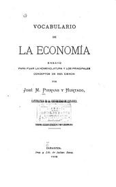 Vocabulario de la economia: ensayo para fijar la nomenclatura y los principales conceptos de esa ciencia