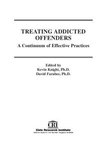 Treating Addicted Offenders