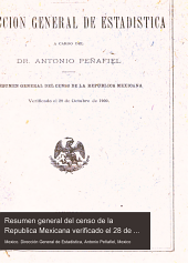 Resumen general del censo de la Republica Mexicana verificado el 28 de octubre de 1900