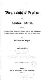Biographisches Lexikon des Kaiserthums Oesterreich, enthaltend die Lebensskizzen der denkwürdigen Personen, welche (seit) 1750 im Kaiserstaate und in seinen Kronländern gelebt haben: Volume 15