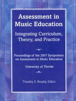 Assessment in Music Education PDF