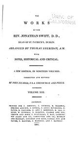 The works of of the Rev. Jonathan Swift: Volume 13