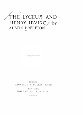 The Lyceum and Henry Irving
