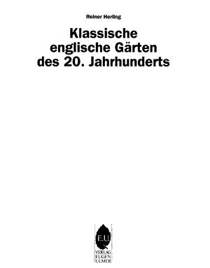 Englische Garten Des 20 Jahrhunderts