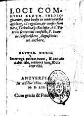 Loci communes rerum theologicarum...