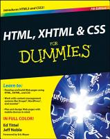 HTML  XHTML   CSS For Dummies PDF