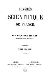 Congrès Scientifique de France: Volume 2; Volume 19