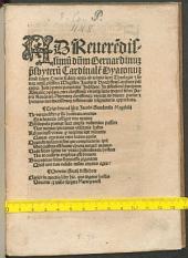 Protectorium principum Alemaniae de maleficis non sepeliendis contra Ravennatem