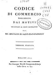 Codice di commercio: preceduto dai motivi