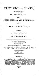 Plutarch's Lives, 3: Translated from the Original Greek