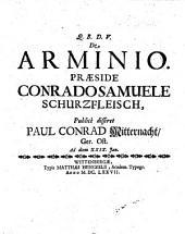De Arminio diss. resp. Paul Conrad Mitternacht