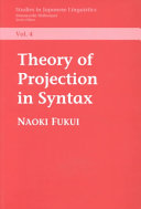Theory of Projection in Syntax
