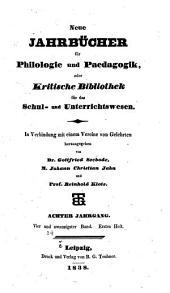 Neue Jahrbücher für Philologie und Paedagogik: Band 24