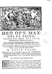 Quaestio medico-chirurgica quodlibetariis disputationibus manè discutienda, in Scholis Medicorum ... Anno Domini MDCCLXIV ... An condimentum medicamentum Sinapi?