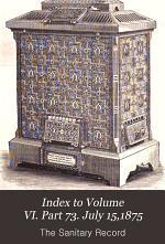 Index to Volume VI. Part 73. July 15,1875