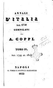Annali d'Italia dal 1750 compilati da A. Coppi: Dal 1799 al 1803, Volume 4