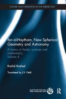 Ibn al Haytham  New Astronomy and Spherical Geometry PDF