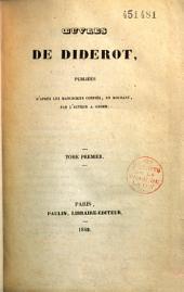 Oeuvres de Diderot: Volume1