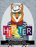 Hipster Animal Coloring Book for Adults