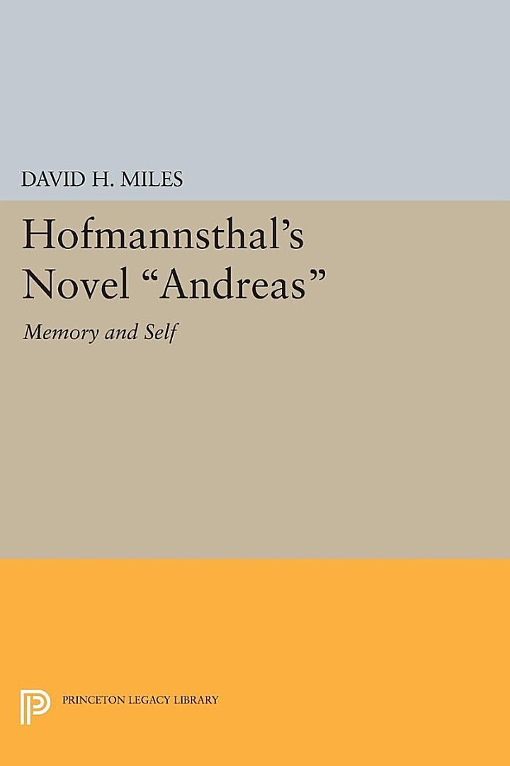 Hofmannsthal's Novel Andreas